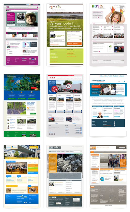 Recente websites brandfabric